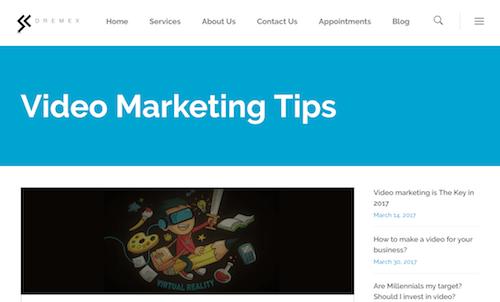 Dremex Video Marketing Tips