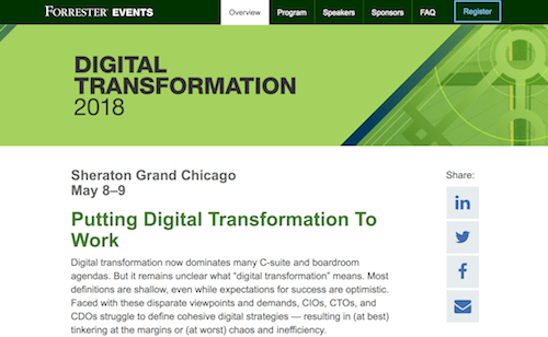 Forrester Digital Transformation 2018
