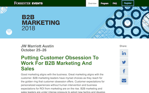 Forrester's B2B Marketing