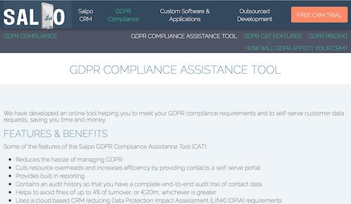 Salpo GDPR Compliance Assistance Tool