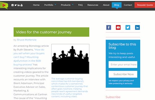 Technology Business Video Blog
