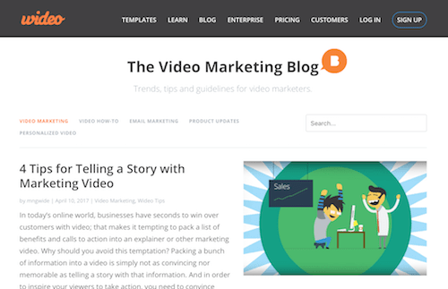 The Wideo Video Marketing Blog